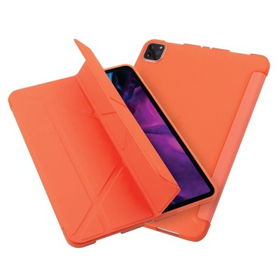 """Insten - Tablet Case for iPad Pro 11"""" 2020, Multifold Stand, Magnetic Cover Auto Sleep/Wake, Pencil Charging, Orange"""