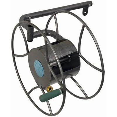 Yard Butler 100 Foot Wall Mounted Swivel Steel Construction Garden Hose Reel