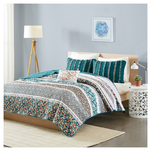 Teal Kiera Coverlet Set - image 1 of 7