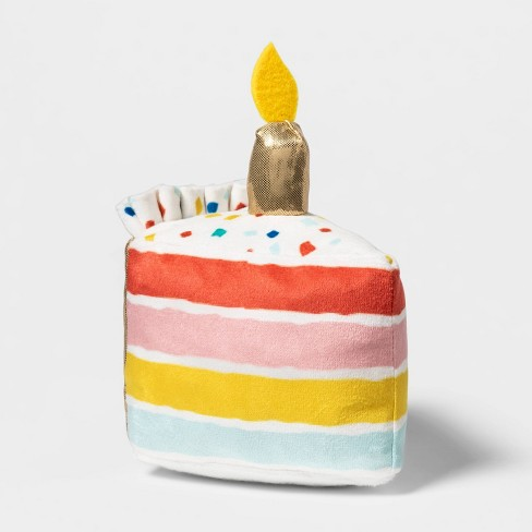 Birthday Cake Slice Plush Dog Toy - Boots & Barkley™ - image 1 of 3