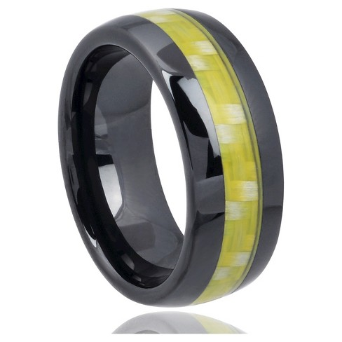 Men's Daxx Carbon Fiber Inlay Band in Ceramic - Black (8mm) - image 1 of 3