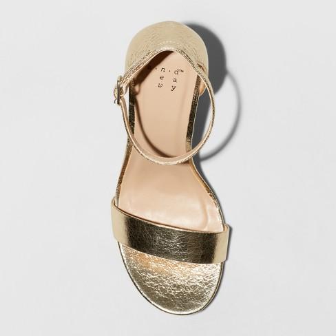 f33bb315698 Women's Ema Wide Width High Block Heel Pumps - A New Day™ Gold 8.5W