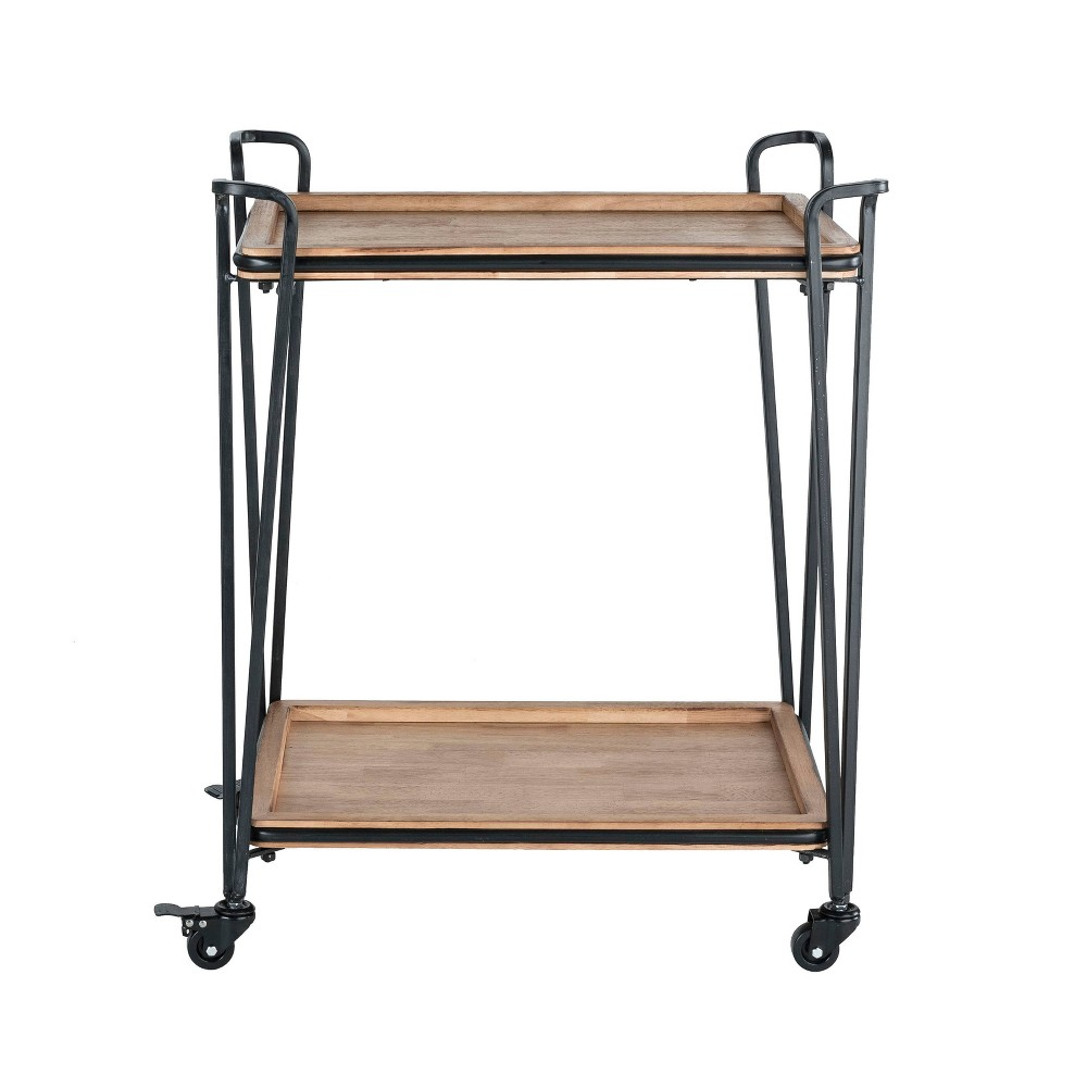 Image of Cooper Bar Cart Black - Click Décor