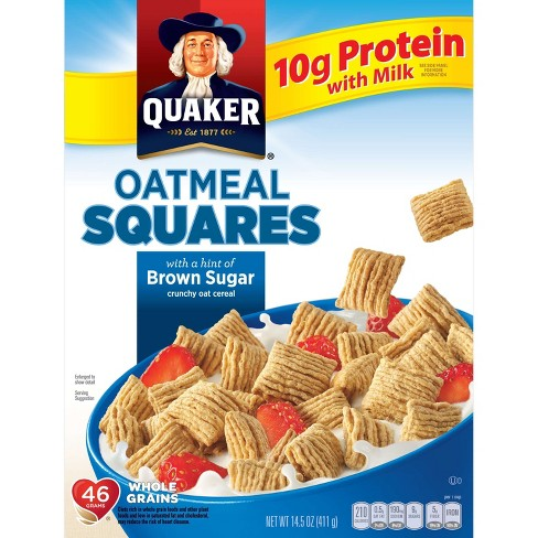 Oatmeal Squares Brown Sugar Breakfast Cereal - 14.5oz - Quaker Oats - image 1 of 5