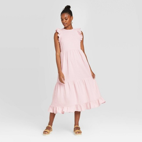 Women's Sleeveless Tiered Ruffle Dress - Universal Thread™ - image 1 of 3