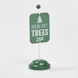 Galvanized Standing sign Fresh Cut Trees - Wondershop™