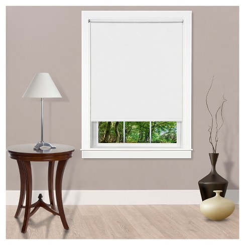 Cords Free Tear Down Room Darkening Window Shade White - Achim - image 1 of 7