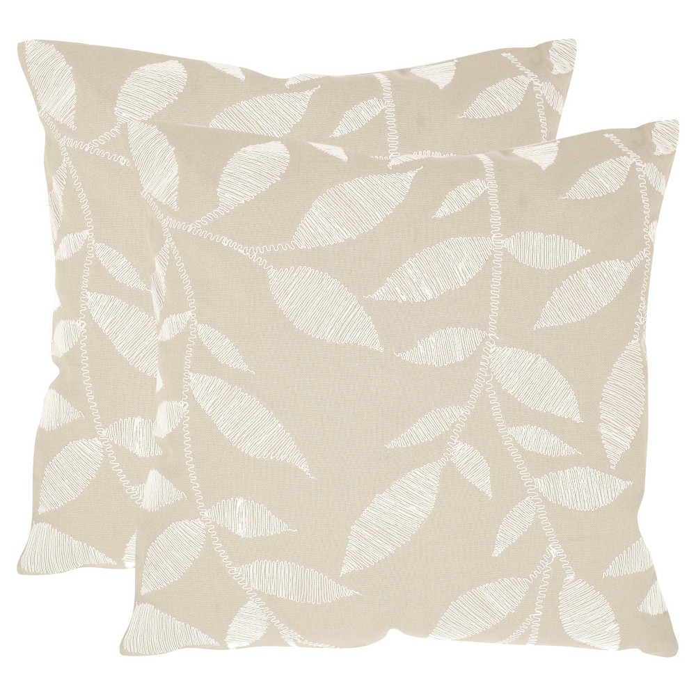 Beige May Set of 2 Throw Pillow (20