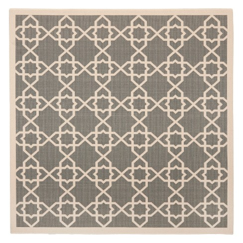 Belfast Square 7 10 X 7 10 Outer Patio Rug Gray Beige