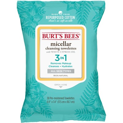 Facial Cleansing Wipes: Burt's Bees Micellar Cleansing Towelettes