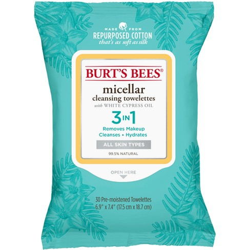 Burt's Bees Micellar Cleansing Towelettes - 30ct - image 1 of 4