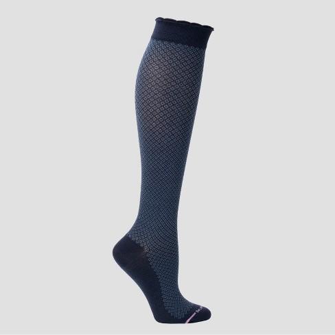 ef3903d43c9 Dr. Motion Women s Mild Compression Knee High Socks - Navy 4-10   Target