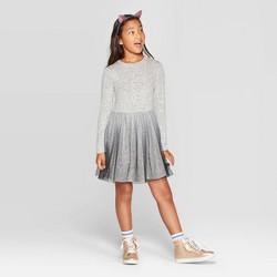 Girls' Long Sleeve Cozy Dress - Cat & Jack™ Heather Gray