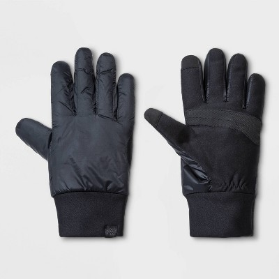 Men's Poly Shell Gloves - All in Motion™ Black S/M