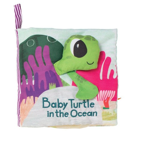 Manhattan Toy What's Outside? Sea-Themed Soft Baby Activity Book with Baby Rattle - image 1 of 4