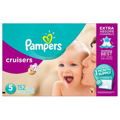 Pampers Cruisers Diapers One Month Supply Pack Size 5 (152 ct)