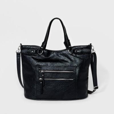 Bueno Bubble Grain Carry All Tote Handbag   Black by Bueno Of California
