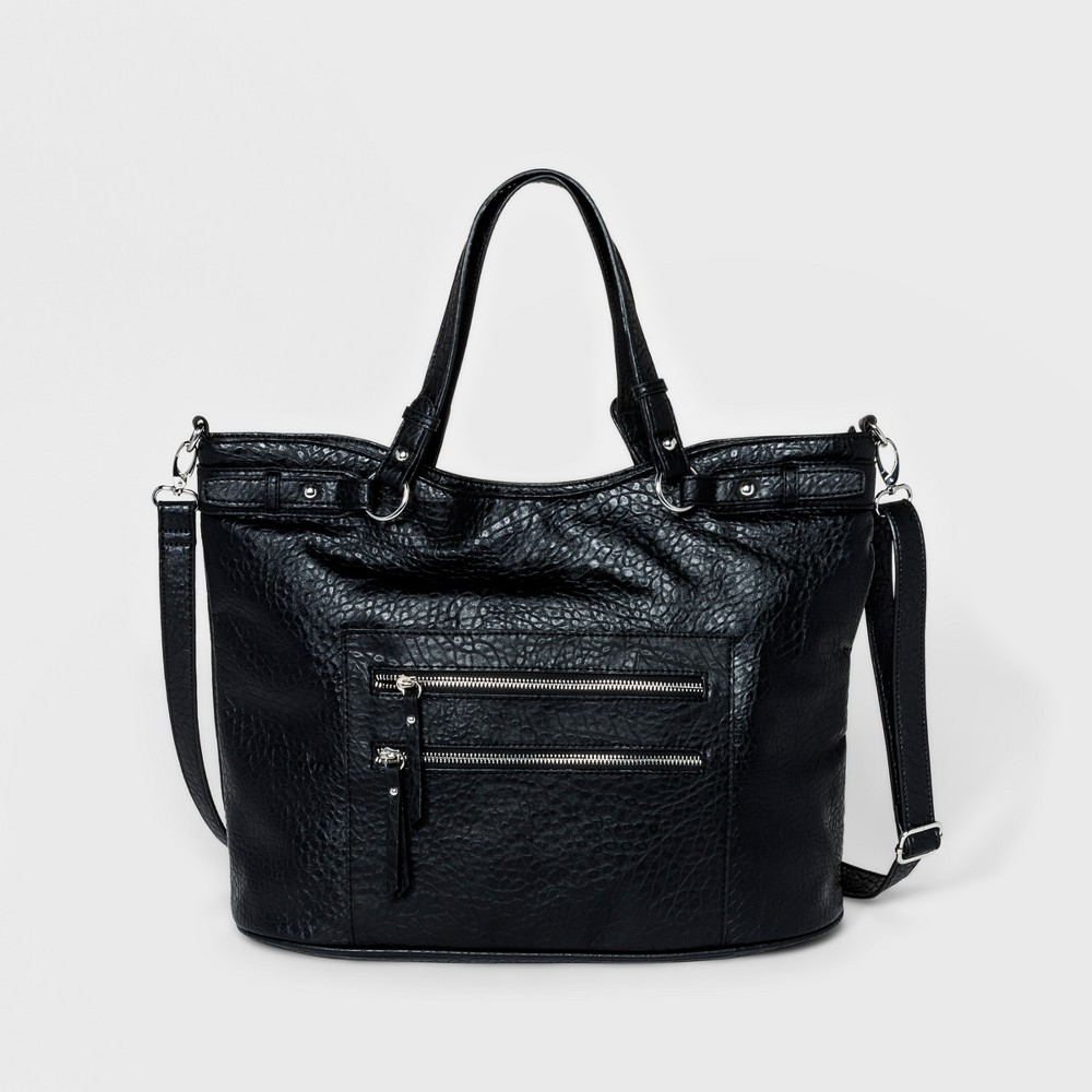 Image of Bueno Bubble Grain Carry All Tote Handbag - Black, Women's