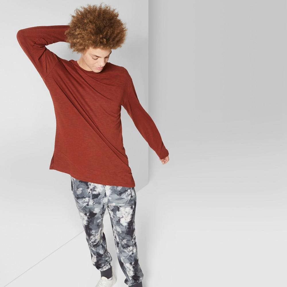 Men's Long Sleeve Double Hem T-Shirt - Original Use Rose Cloud 2XL