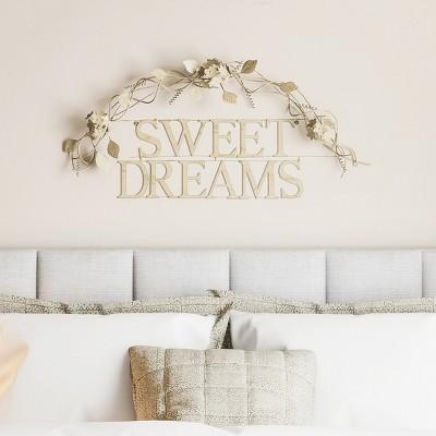 Sweet Dreams  Decorative Wall Metal Cutout Sign Black - Lavish Home