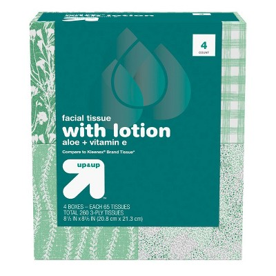 Tissues: up & up With Lotion