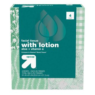Facial Tissue with Lotion - 4pk/65ct - Up&Up™