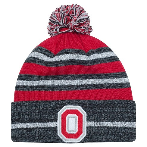 ae205d0e35a NCAA Ohio State Buckeyes Women s Cuffed Knit With Pom Beanie - Black ...