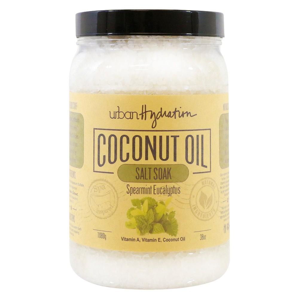 Urban Hydration Coconut Oil Spearmint Eucalyptus Extract Salt Soak 38 oz