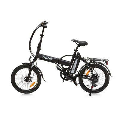 "Go Power Bike 20"" Go City Electric Folding Bike - Black"