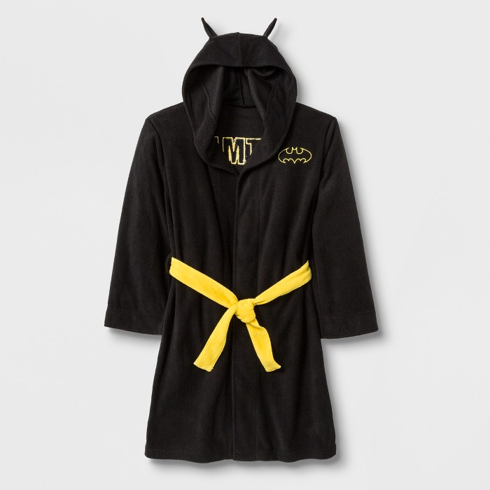 Boys' Batman Hooded Robe - Black - image 1 of 2