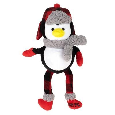 The Worthy Dog Buffalo Penguin Toy - Black/White - One Size