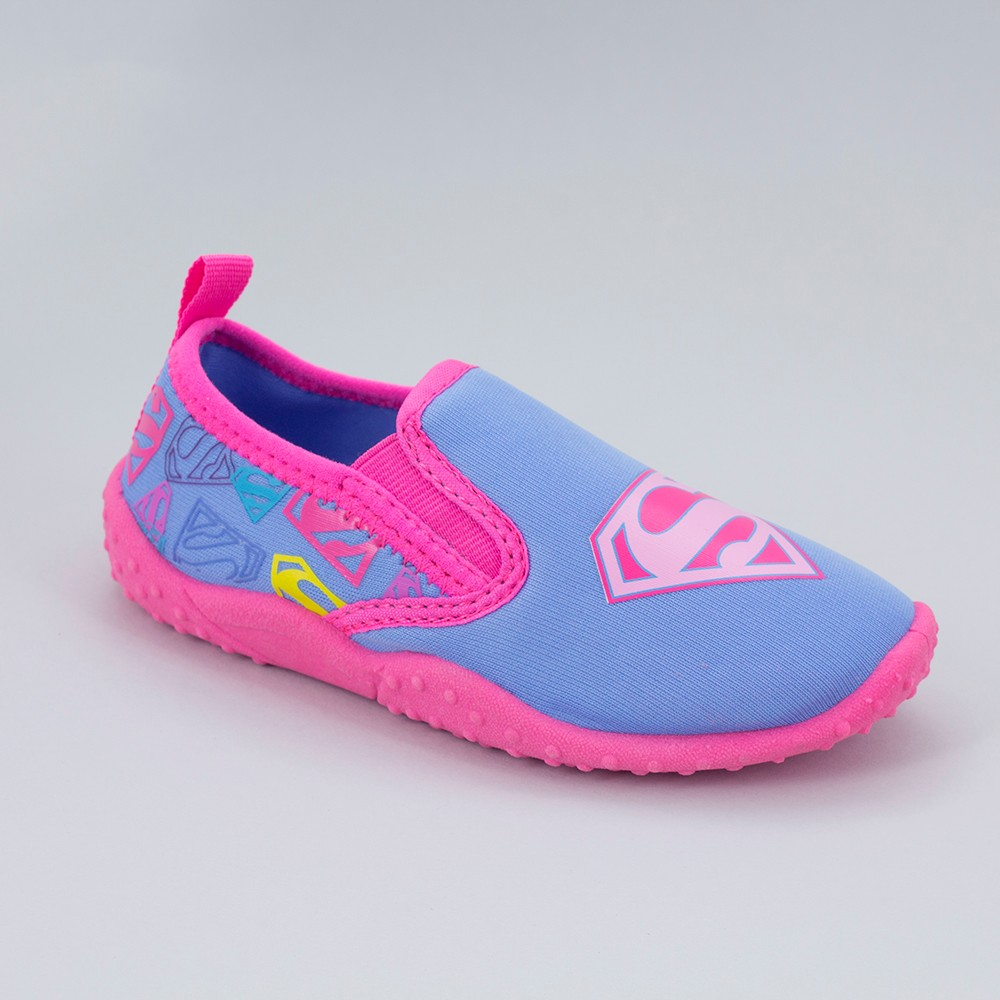 Girls' Supergirl Athletic Water Shoes - Pink 11-12