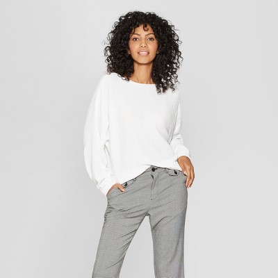 Women's Chenille Pullover - A New Day™ Fresh White XS