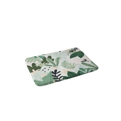 Gale Switzer Into the Jungle Bath Mat Green - Deny Designs