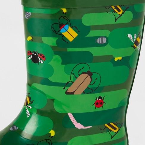 3d70b75f4e246 Kids' Bug Camo Garden Rain Boots Green - Kid Made Modern : Target