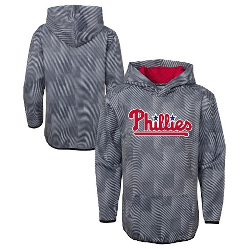 MLB Philadelphia Phillies Boys' First Pitch Gray Poly Hoodie - image 1 of 3