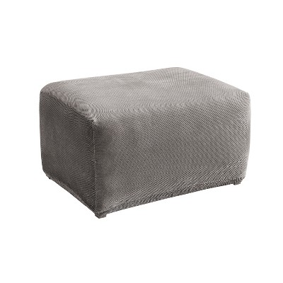 Stretch Pique Ottoman Flannel Gray - Sure Fit