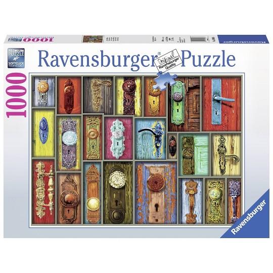 Ravensburger Antique Doorknobs Puzzle 1000pc, Adult Unisex image number null
