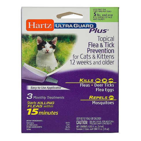 Hartz® UltraGuard Plus® Flea & Tick Drops for Cats - 3ct - image 1 of 1