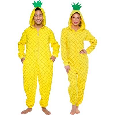 FUNZIEZ! - Pineapple Slim Fit Adult Unisex Novelty Union Suit