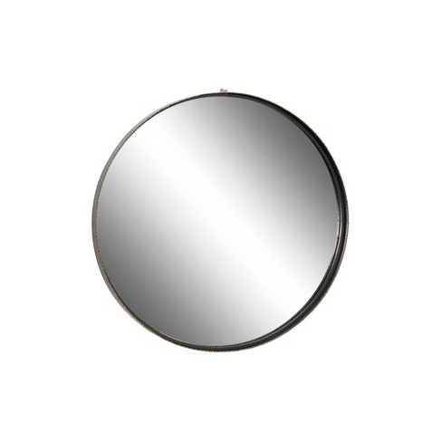 """32"""" x 32"""" Large Round Metal Wall Mirror with Metallic Textured Trim Gold - Olivia & May - image 1 of 4"""