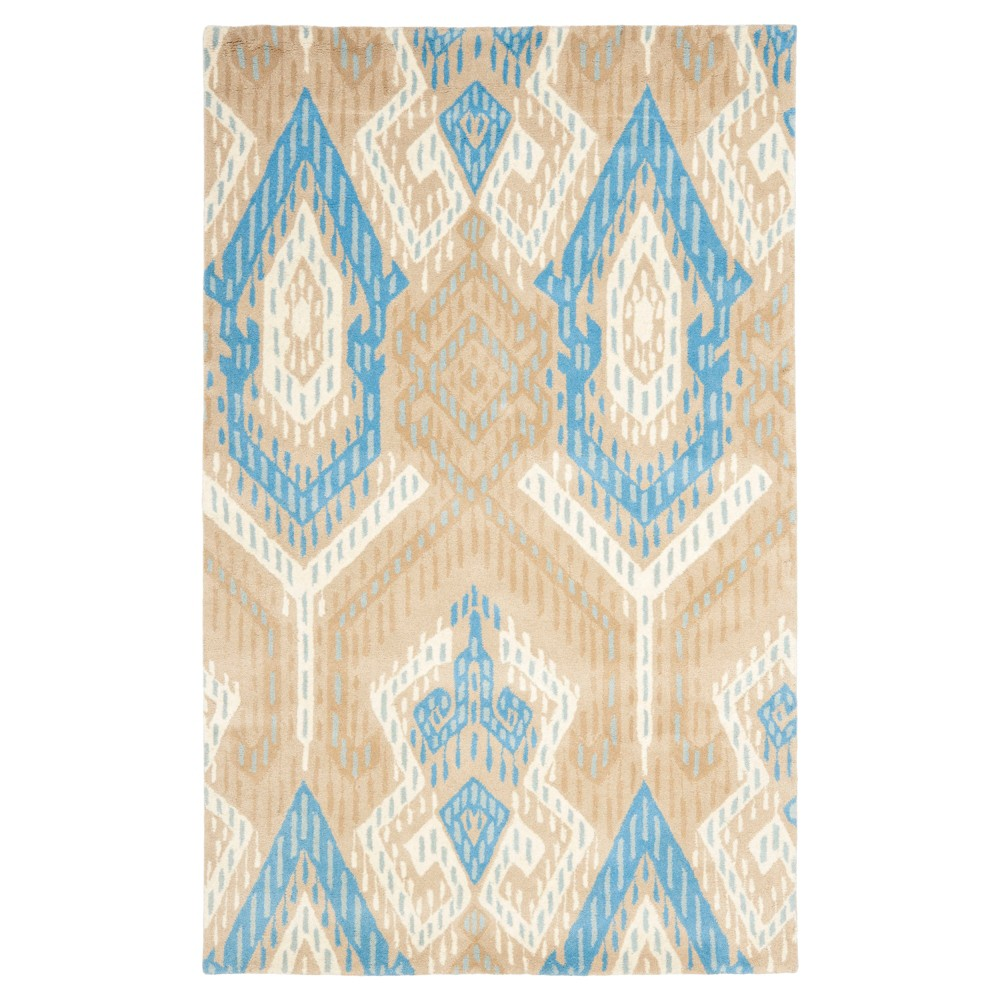 Blue/Ivory Abstract woven Area Rug - (5'X8') - Safavieh