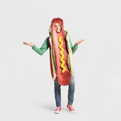 Adult Hot Dog Halloween Costume Bodysuit One Size - Hyde & EEK! Boutique™