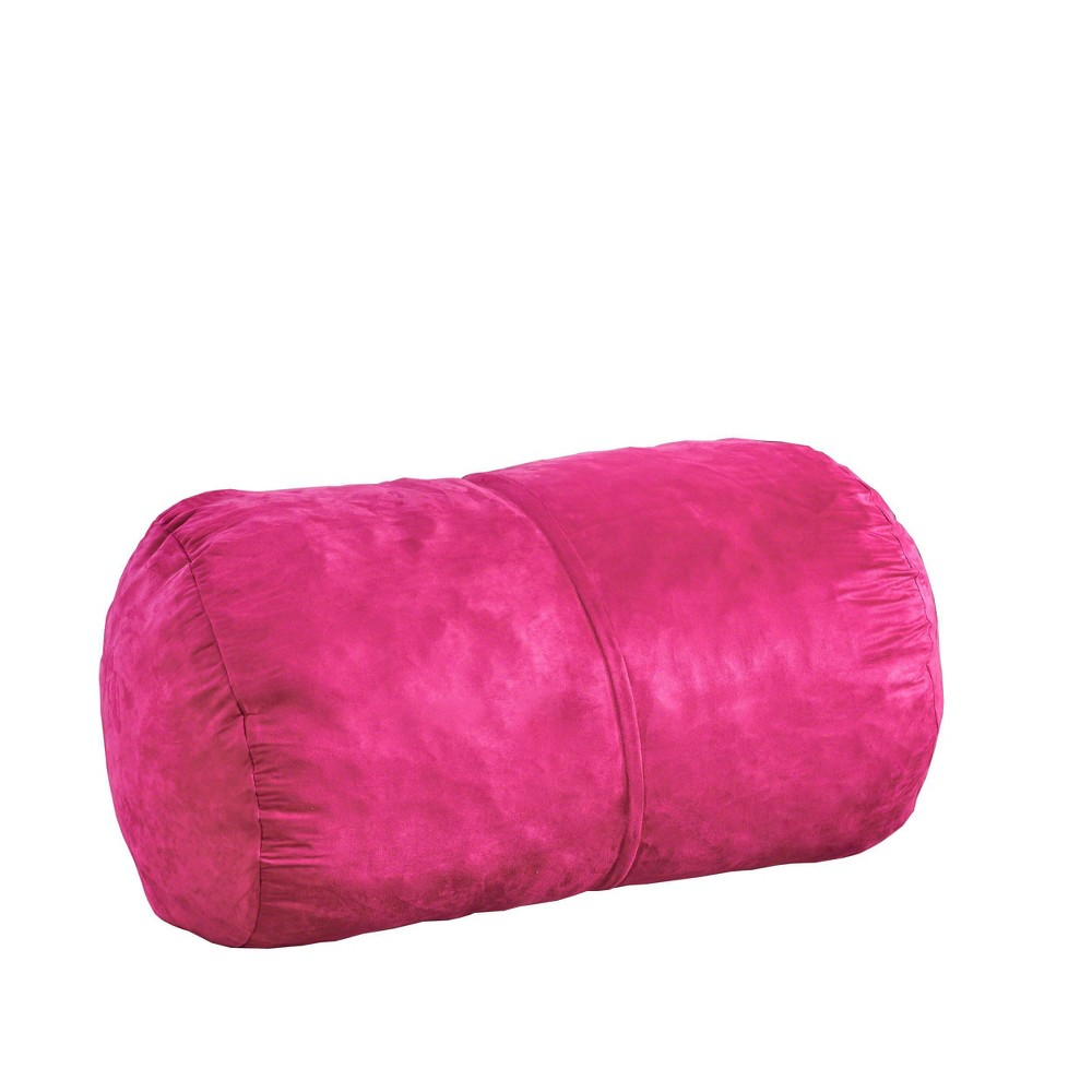 "Image of ""4"""" Barry Traditional Suede Bean Bag Cover Only Fuschia - Christopher Knight Home"""