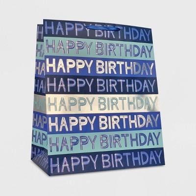 "XLarge ""Happy Birthday"" Script Blue - Spritz™"