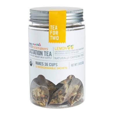 Munchkin Milkmakers Lactation Tea - Lemon - 12ct