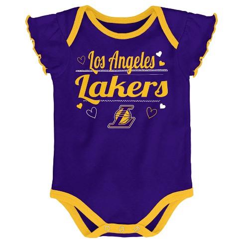 4a9aa17794f5 NBA Los Angeles Lakers Girls  Draft Pick 3pk Body Suit Set   Target