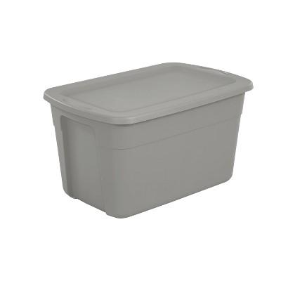 30gal Storage Tote Gray - Room Essentials™
