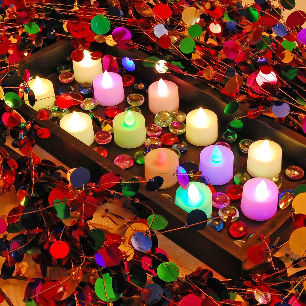 Image of 12ct Battery Operated LED Tea Lights