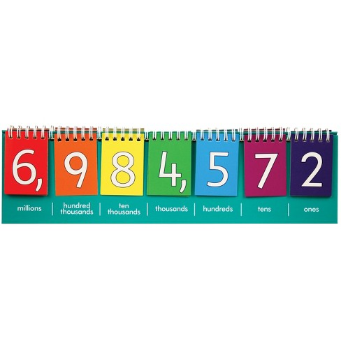 Edx Education Student Place Value Flip Chart - Double-Sided with Whole Numbers and Decimals - image 1 of 4